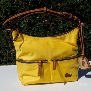 Dooney & Bourke Nylon Yellow Bag Embroidered Duck